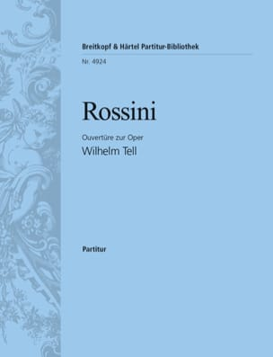 Guillaume Tell, Ouvertüre - Partitur ROSSINI Partition laflutedepan