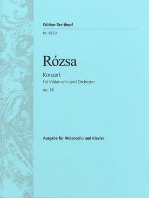 Miklos Rozsa - Violoncellokonzert op. 32 - Sheet Music - di-arezzo.com