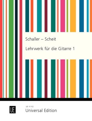 Schaller Erwin / Scheit Karl - Lehrwerk für die Gitarre – Heft 1 - Partition - di-arezzo.fr
