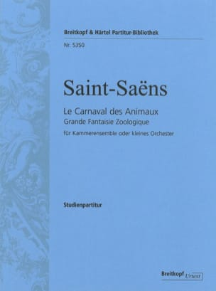 Camille Saint-Saëns - Carnival of the Animals - Sheet Music - di-arezzo.com