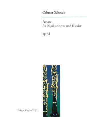 Othmar Schoeck - Sonate op. 41 – Bassklarinette u. Klavier - Partition - di-arezzo.fr