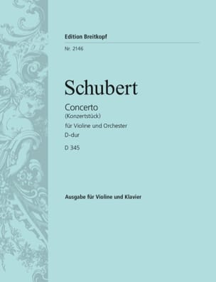 SCHUBERT - Concerto Konzertstück in D major - D 345 - Sheet Music - di-arezzo.co.uk