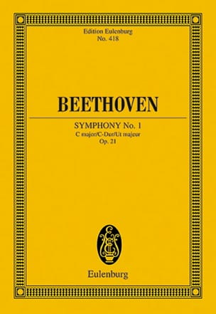 BEETHOVEN - Symphony Nr. 1 C-Dur - Partition - di-arezzo.co.uk
