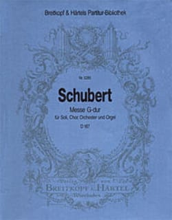 Messe G-Dur D 167 - Partitur SCHUBERT Partition laflutedepan