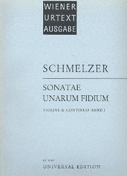 Johann Heinrich Schmelzer - Sonatae Unarum Fidium Volume 1 - Sheet Music - di-arezzo.co.uk