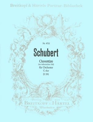 SCHUBERT - Ouvertüre C-dur D 591 - Partition - di-arezzo.fr
