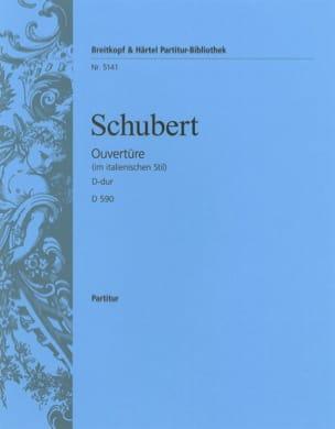 Ouvertüre D-dur D 590 ital. SCHUBERT Partition laflutedepan