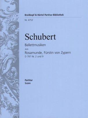 SCHUBERT - Ballettmusiken aus Rosamunde, Fürstin von Zypern - Sheet Music - di-arezzo.com