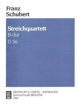 Franz Schubert - Streichquartett B-dur D 36 –Stimmen - Partition - di-arezzo.fr