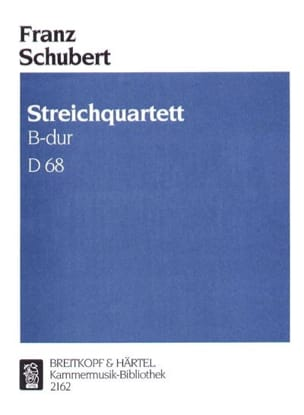 Franz Schubert - Streichquartett B-dur D 68 –Stimmen - Partition - di-arezzo.fr