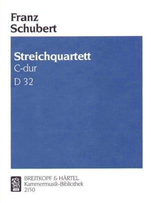 Franz Schubert - Streichquartett C-dur D 32 –Stimmen - Partition - di-arezzo.fr