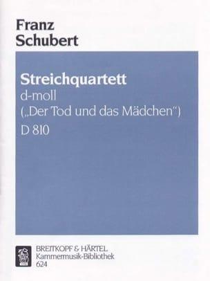 SCHUBERT - Streichquartett d-moll D. 810 -Stimmen - Partition - di-arezzo.fr