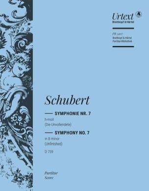 Franz Schubert - Symphonie, Nr. 7 h-moll D 759 – Partitur - Partition - di-arezzo.fr