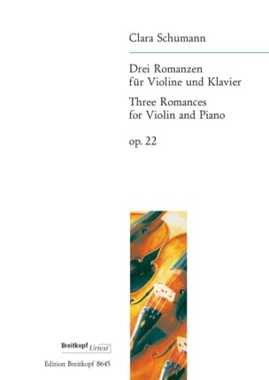 Clara Schumann - 3 Romances op. 22 - Partition - di-arezzo.fr