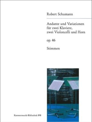 SCHUMANN - Andante und Variationen - Parts - Sheet Music - di-arezzo.com