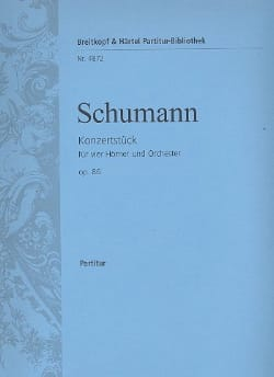 SCHUMANN - Konzertstück F-Dur op. 86 - Partitur - Partition - di-arezzo.com