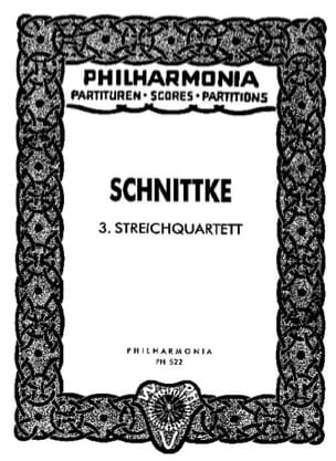 Streichquartett Nr. 3 - Partitur SCHNITTKE Partition laflutedepan