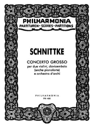 Concerto grosso - Partitur Alfred Schnittke Partition laflutedepan