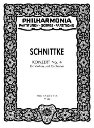 Alfred Schnittke - Konzert Nr. 4 für Violine – Partitur - Partition - di-arezzo.fr