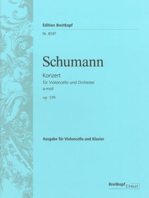 SCHUMANN - Cello Concerto in A minor op. 129 - Sheet Music - di-arezzo.co.uk