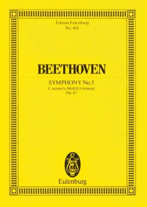 BEETHOVEN - Symphonie Nr. 5 c-Moll - Partition - di-arezzo.fr