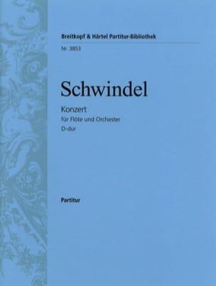 Friedrich Schwindel - Flötenkonzert D-Dur - Partitur - Partition - di-arezzo.fr