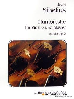 Jean Sibelius - Humoreske op. 115 n° 3 - Partition - di-arezzo.fr