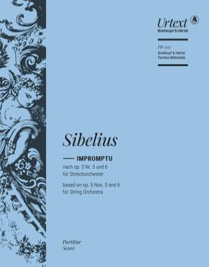 Impromptu Pour Orchestre - Conducteur SIBELIUS Partition laflutedepan