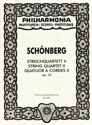 Streichquartett Nr. 2 op. 10 - Partitur Arnold Schoenberg laflutedepan