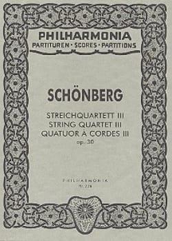 Arnold Schoenberg - Streichquartett Nr. 3 op. 30 – Partitur - Partition - di-arezzo.fr