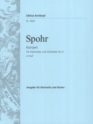 Louis Spohr - Clarinet Concerto No. 4 in E minor - Sheet Music - di-arezzo.co.uk