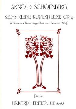 6 Kleine Klavierstücke op. 19 - Partitur SCHOENBERG laflutedepan