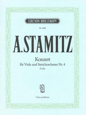 Concerto n° 4, D major - Viola STAMITZ Partition Alto - laflutedepan