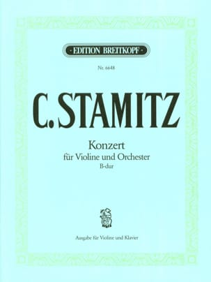 Carl Stamitz - Konzert B-hard - Violine - Partitura - di-arezzo.es