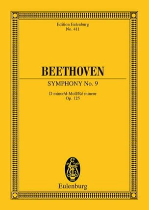 BEETHOVEN - Symphony Nr. 9 D-Moll Op. 125 - Conductor - Sheet Music - di-arezzo.co.uk