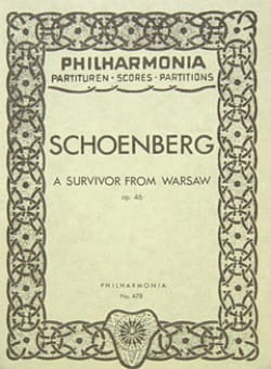 Arnold Schoenberg - A survivor from Warsaw op. 46 - Partitur - Partition - di-arezzo.fr