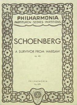 Arnold Schoenberg - A survivor from Warsaw op. 46 -Partitur - Partition - di-arezzo.fr