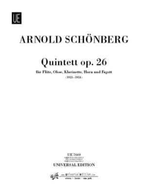 Bläserquintet op. 26 -Stimmen - Arnold Schoenberg - laflutedepan.com