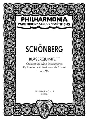 Arnold Schoenberg - Bläserquintett op. 26 - Partitur - Partition - di-arezzo.fr