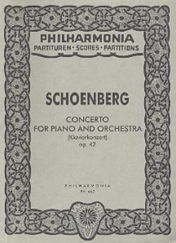 Arnold Schoenberg - Klavierkonzert op. 42 - Partitur - Partition - di-arezzo.fr
