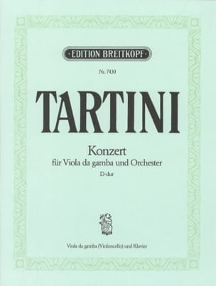 Giuseppe Tartini - Concerto in D for viola da gamba - Sheet Music - di-arezzo.com
