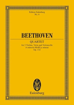 Ludwig van Beethoven - Streichquartett a-moll op. 132 – Partitur - Partition - di-arezzo.fr