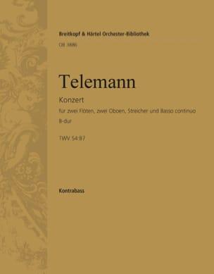 Georg Ph Telemann - Concerto Grosso B-Dur - Partition - di-arezzo.fr