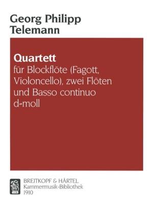 Georg Philipp Telemann - Quartett d-moll -Blockflöte 2 Flöten Bc - Partition - di-arezzo.fr