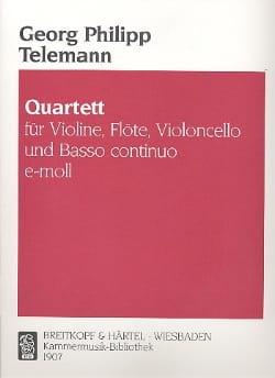 TELEMANN - Quartett e-moll Tafelmusik 1733, 3 Nr. 2 -Flöte Violine Cello BC - Partition - di-arezzo.fr
