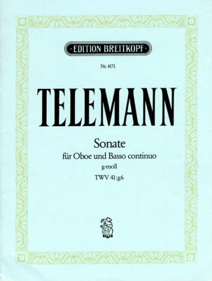 Georg Ph. Telemann - Sonate Sol Mineur Twv 41:g6 - Partition - di-arezzo.fr