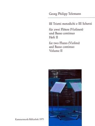 3 Trietti metodichi e Scherzi - Heft 2 -2 Flöten Violinen Bc laflutedepan