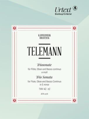 Georg Philipp Telemann - Triosonate TWV 42:e2 - Partition - di-arezzo.fr