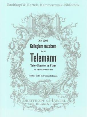 Georg Philipp Telemann - Triosonate F-Dur – 2 Blockflöten und BC - Partition - di-arezzo.fr