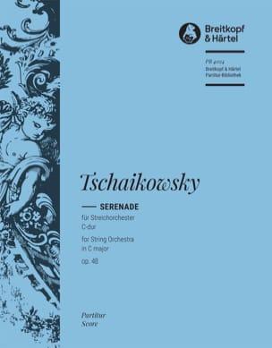 Serenade C-Dur op. 48 - Partitur TCHAIKOVSKY Partition laflutedepan